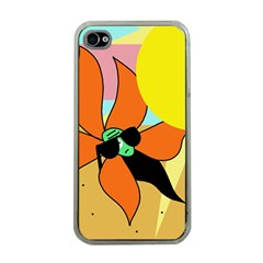 Sunflower on sunbathing Apple iPhone 4 Case (Clear)