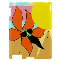 Sunflower on sunbathing Apple iPad 2 Hardshell Case