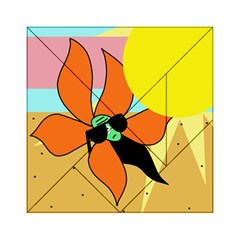 Sunflower on sunbathing Acrylic Tangram Puzzle (6  x 6 )