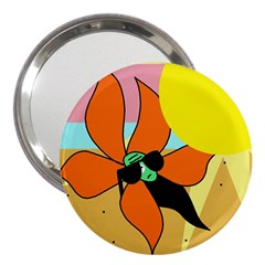 Sunflower on sunbathing 3  Handbag Mirrors