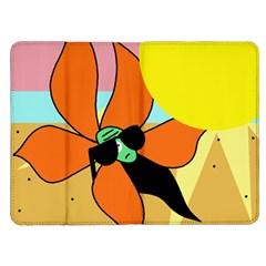 Sunflower on sunbathing Kindle Fire (1st Gen) Flip Case
