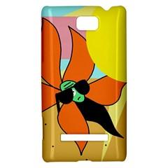 Sunflower on sunbathing HTC 8S Hardshell Case
