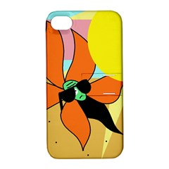 Sunflower on sunbathing Apple iPhone 4/4S Hardshell Case with Stand