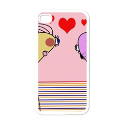 Love Apple iPhone 4 Case (White)