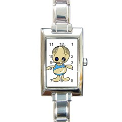Cute boy Rectangle Italian Charm Watch