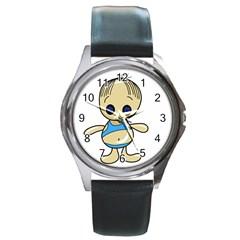 Cute boy Round Metal Watch