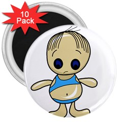 Cute boy 3  Magnets (10 pack)