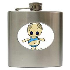 Cute boy Hip Flask (6 oz)