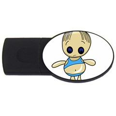 Cute boy USB Flash Drive Oval (2 GB)