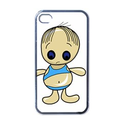 Cute boy Apple iPhone 4 Case (Black)