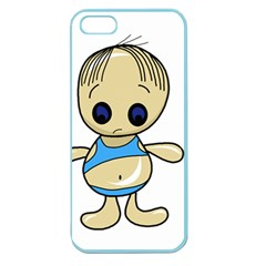 Cute boy Apple Seamless iPhone 5 Case (Color)