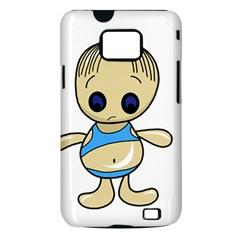 Cute boy Samsung Galaxy S II i9100 Hardshell Case (PC+Silicone)