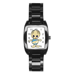 Cute boy Stainless Steel Barrel Watch