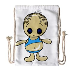 Cute boy Drawstring Bag (Large)