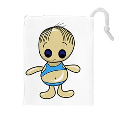 Cute boy Drawstring Pouches (Extra Large)
