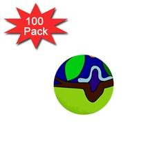 Caterpillar  1  Mini Buttons (100 pack)