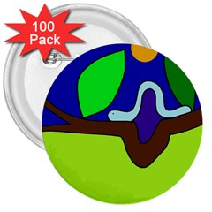 Caterpillar  3  Buttons (100 pack)