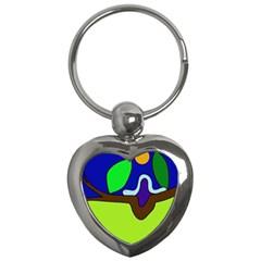 Caterpillar  Key Chains (Heart)
