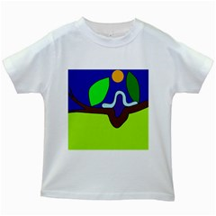 Caterpillar  Kids White T-Shirts