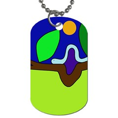 Caterpillar  Dog Tag (Two Sides)