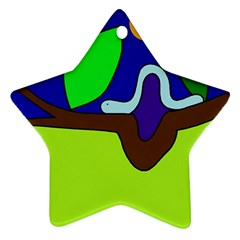 Caterpillar  Star Ornament (Two Sides)
