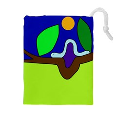 Caterpillar  Drawstring Pouches (Extra Large)