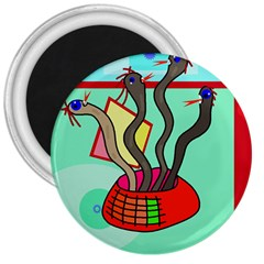 Dancing  snakes 3  Magnets