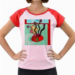 Dancing  snakes Women s Cap Sleeve T-Shirt