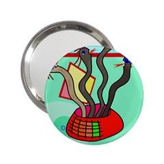 Dancing  snakes 2.25  Handbag Mirrors