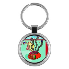 Dancing  snakes Key Chains (Round)