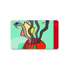 Dancing  snakes Magnet (Name Card)