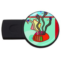 Dancing  snakes USB Flash Drive Round (2 GB)