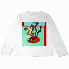 Dancing  snakes Kids Long Sleeve T-Shirts