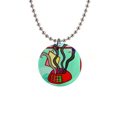 Dancing  snakes Button Necklaces