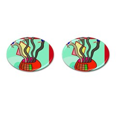 Dancing  snakes Cufflinks (Oval)