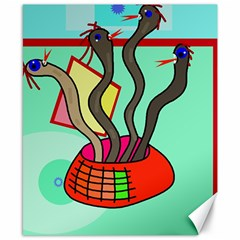 Dancing  snakes Canvas 8  x 10