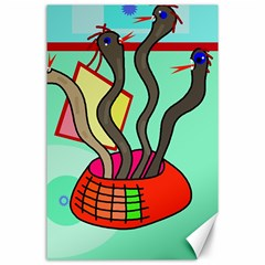 Dancing  snakes Canvas 24  x 36