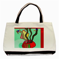 Dancing  snakes Basic Tote Bag (Two Sides)