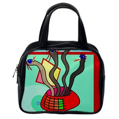 Dancing  snakes Classic Handbags (One Side)