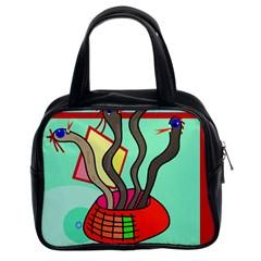 Dancing  snakes Classic Handbags (2 Sides)