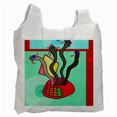 Dancing  snakes Recycle Bag (One Side)