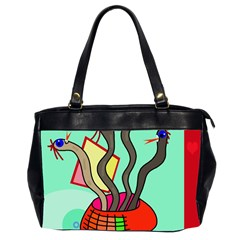 Dancing  snakes Office Handbags (2 Sides)