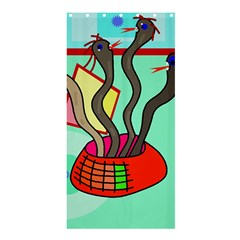 Dancing  snakes Shower Curtain 36  x 72  (Stall)