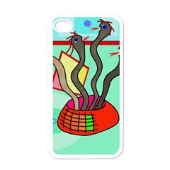 Dancing  snakes Apple iPhone 4 Case (White)