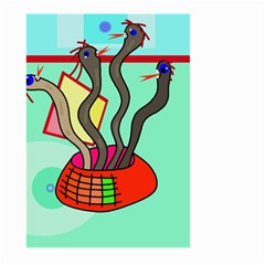 Dancing  snakes Large Garden Flag (Two Sides)