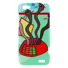 Dancing  snakes HTC One V Hardshell Case