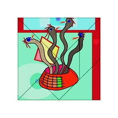 Dancing  snakes Acrylic Tangram Puzzle (4  x 4 )