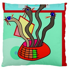 Dancing  snakes Large Cushion Case (One Side)
