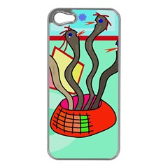 Dancing  snakes Apple iPhone 5 Case (Silver)