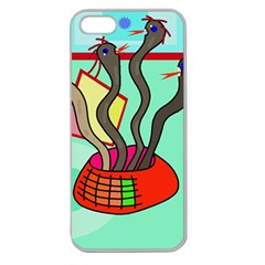 Dancing  snakes Apple Seamless iPhone 5 Case (Clear)